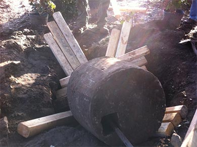 concrete barrel