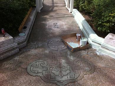 Chinese walk before restoration