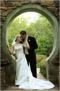 couple in Moon Gate